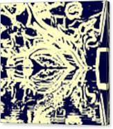 Cosmic Children In Space Canvas Print