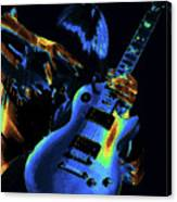 Cosmic Rock Guitar Canvas Print