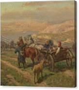 Cossak Convoy Canvas Print