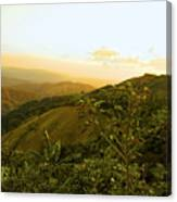 Costa Rica Rolling Hills 2 Canvas Print