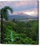 Costa Rica Volcano View Canvas Print