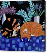 Cosy Companions Canvas Print