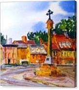 Cotswolds Town Center Canvas Print
