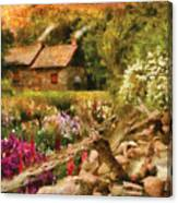 Cottage - There's No Place Like Home Canvas Print