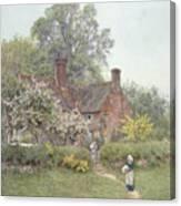 Cottage At Chiddingfold Canvas Print