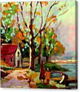 Cottage Country The Eastern Townships A Romantic Summer Landscape Canvas Print