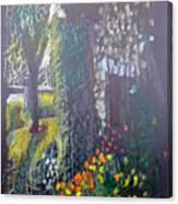 Cottage Flowers Canvas Print