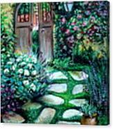 Cottage Gates Canvas Print