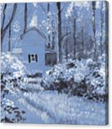 Cottage In The Woods Canvas Print