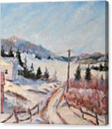 Cottage Road Canvas Print