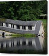 Cottage Sinking In The Rideau Canal Canvas Print