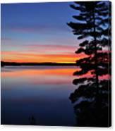 Cottage Sunset Canvas Print