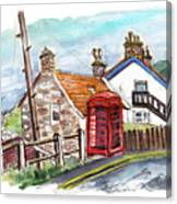 Cottages In Runswick Bay Canvas Print