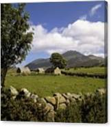 Cottages On A Farm Near The Mourne Canvas Print