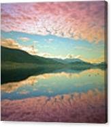Cotton Candy Clouds At Skaha Lake Canvas Print