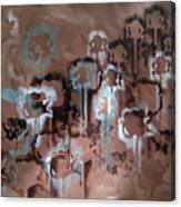 Cotton Impression In Brown And Teal Canvas Print