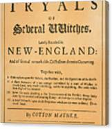 Cotton Mather, 1693 Canvas Print