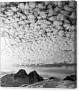 Cotton Sky Chamonix France Canvas Print