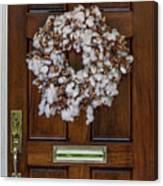 Cotton Wreath Canvas Print