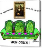 Couch Art Canvas Print