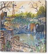 Cougar N Horses Canvas Print