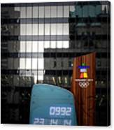 Countdown Clock Olympic Winter Games Vancouver Bc Canada 2010 Canvas Print