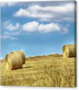Country Bales Canvas Print