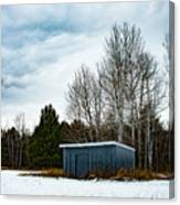 Country Barn In The Snow Canvas Print