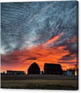 Country Barns Sunrise Canvas Print