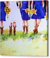 Country Bride Canvas Print