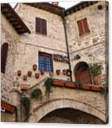 Country Charm Assisi Italy Canvas Print
