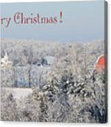 Country Christmas Canvas Print