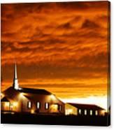 Country Church Sundown Canvas Print