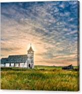 Country Church Sunrise Canvas Print