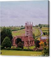 Country Church Wadsworth, England Canvas Print