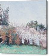 Country Cottage In Spring Time Canvas Print
