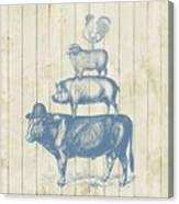 Country Farm Friends Canvas Print