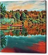 Country Lake Canvas Print