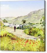Country Lane In Spring Canvas Print