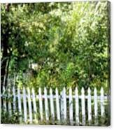 Country Picket Fence Canvas Print