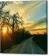 Country Road Please Take Me Home Canvas Print