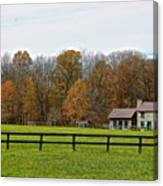 Country Side Home Canvas Print