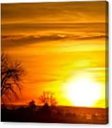 Country Sunrise 1-27-11 Canvas Print