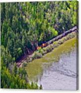 Country Train Canvas Print