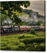Country Train Ride Canvas Print