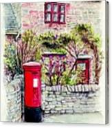 Country Village Post Box Canvas Print