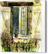 Country Window Canvas Print