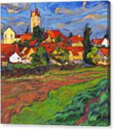 Country With The Red Roofs Canvas Print