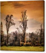 Countryscape With Bell Tower Canvas Print