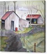 Countryside Dwellings Canvas Print